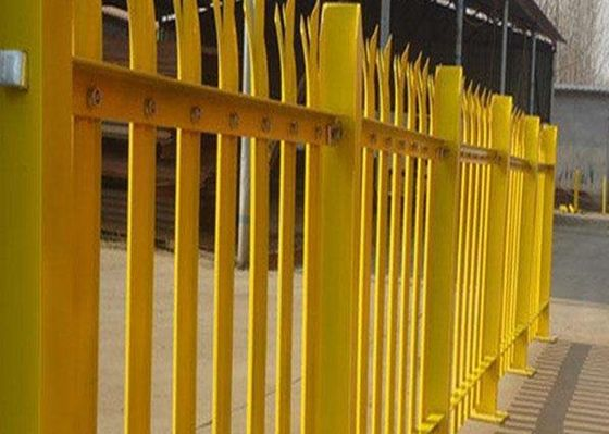 China PVC Coated Metal Palisade Fence Panels European Style For Road / Railway supplier