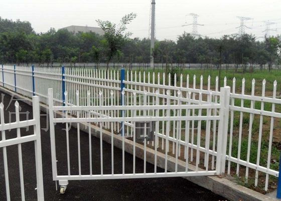 China PVC Coated Welded Zinc Steel Fence For Community / Gardens Protection supplier