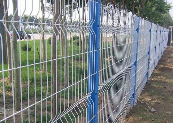 China Anti Climb Garden Mesh Fencing Green Wire Panel For Public Grounds supplier