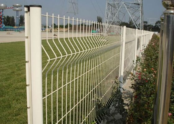 China Ornamental Garden Mesh Fencing / 3D Curved Welded Wire Mesh Panels supplier