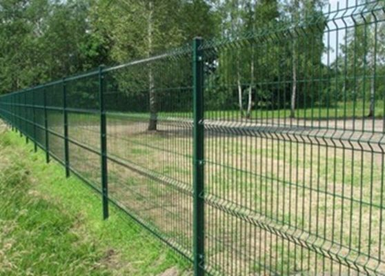 China PVC Coated 3 D Folds Welded Wire Mesh Fence / Decorative Garden Mesh Fencing supplier
