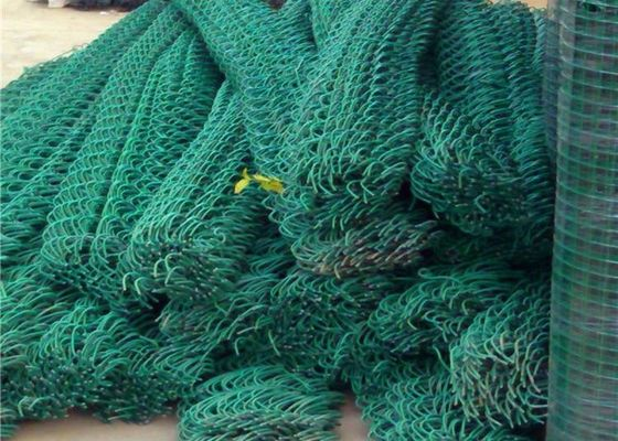 China Dark Green Farm Chain Wire Fencing / Woven Diamond Mesh Fencing Roll supplier