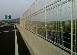 China Green Powder Coated Steel Wire Fencing Security For Highway , 48mmx1.0mm Size supplier