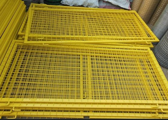 China Durable Powder Coated Steel Wire Fencing Panels With Frame Finishing supplier