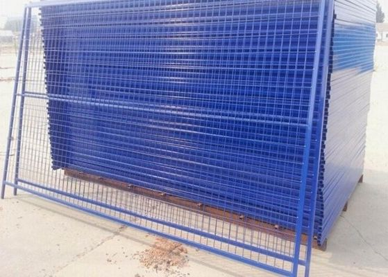 China Outdoor Temporary Security Galvanized Steel Fence Panels Round / Square Post supplier