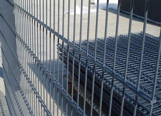 China Galvanized / PVC Coated Steel Wire Fencing , Double Wire Mesh Fence For Garden supplier