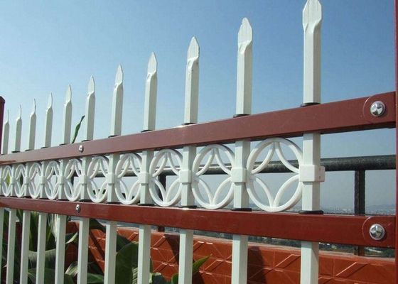 China Safety Hot Dipped Zinc Steel Fence , Powder Coated Steel Tubular Fence supplier