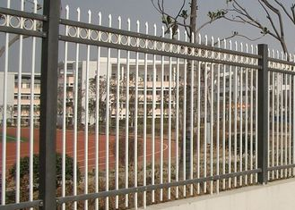 China Powder Coated Zinc Steel Fence Three Beam For Industrial Park , 50*50mm Rail supplier