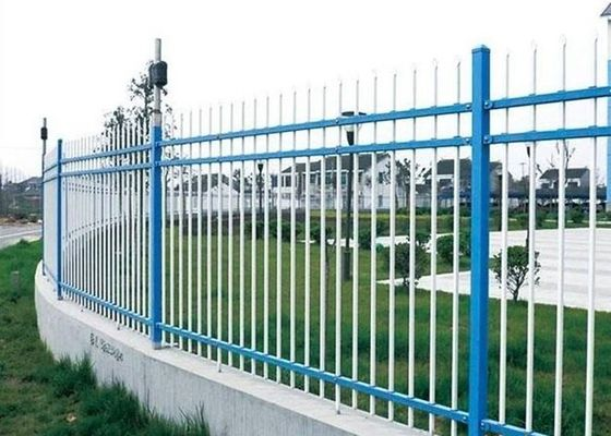 China Powder Coated Wall Boundary Line Fencing Double Beam With 80*80mm Square Pipe supplier
