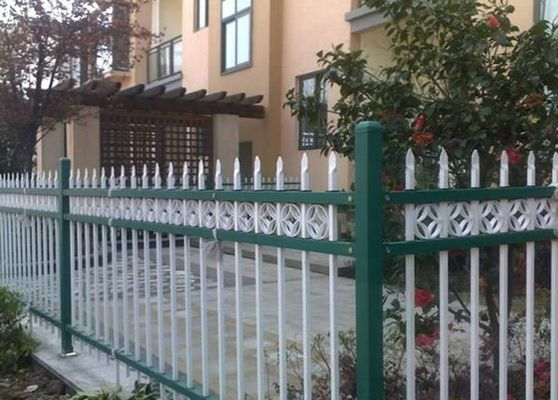China Euro Style Tubular Zinc Steel Fence Powder Coated For School , Convenient Install supplier