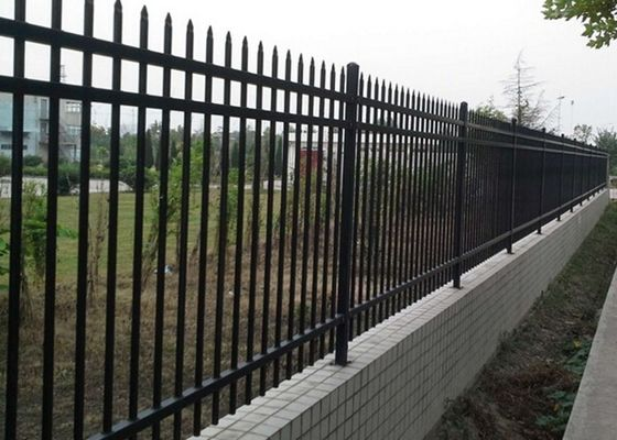 China Various Size Decorative Ornamental Steel Fence For Residential , Weather Proof supplier