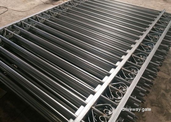 China Commercial Automatic Driveway Gates Picket Steel Fence Eco Friendly supplier