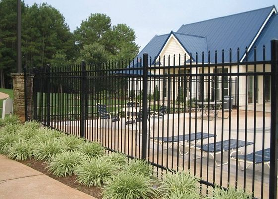 China Professional Square Tubular Picket Fence For Automatic Security Gates supplier
