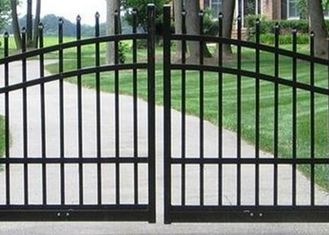 China Outdoor Decoration Automatic Driveway Gates For Garden / Residential , Eco Friendly supplier