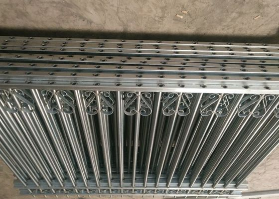 China Galvanized Steel Tubular Fence Sliding Electric Gates For Backyard supplier