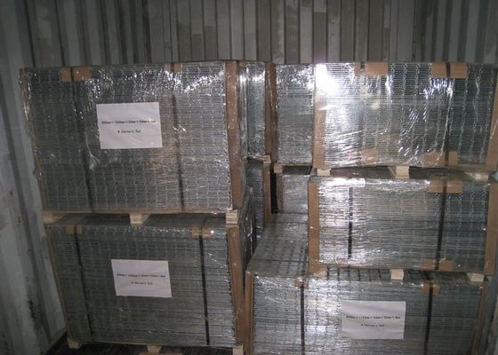 China Construction 2 X 2 Welded Wire Mesh Panels Security For Commercial Grounds supplier