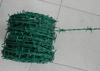 China Green Security Barbed Wire Roll Coil Protection For Grass Boundary supplier