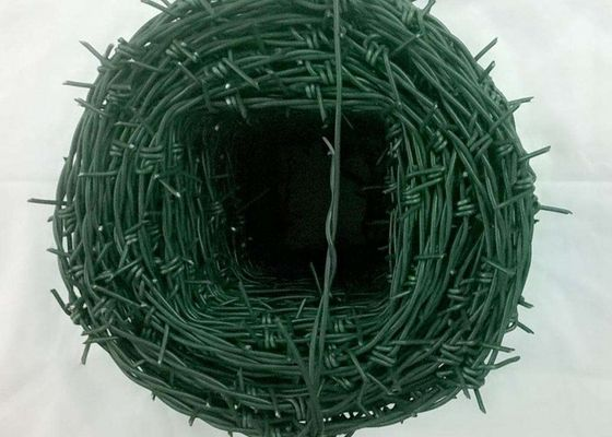 China Tradition Twisted Barbed Wire Mesh Fence Powder Coated With 1.5-3cm Barb Length supplier