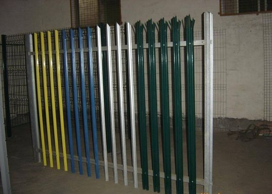 China Powder Coated Metal Palisade Fencing Gate Europe Type With 2-3.0mm Thickness Pale supplier
