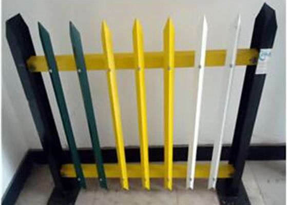 China Angle Iron Metal Palisade Fencing And Gate For Agriculture / Decorative Picket Fence supplier