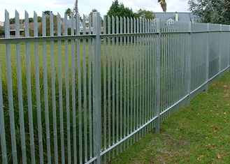 China W Type Palisade Security Fence / Decorative Metal Palisade Fence Panels supplier