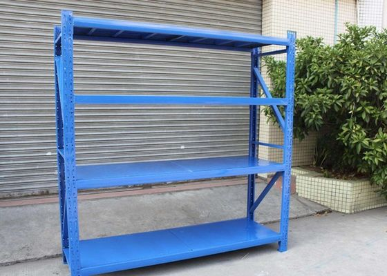 China Medium Duty Steel Storage Shelves Units Powder Coated With 1-5 Height supplier