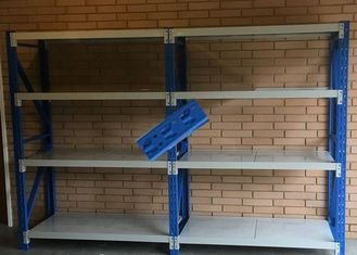 China Butterfly Hole Metal Shelf Rack / Height Adjustable Warehouse Storage Racks supplier