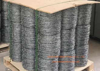 China Electro Galvanized Fence Barbed Wire For Grass Boundary / Highway Protecting supplier