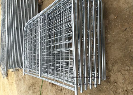 China 8ft -16ft Galvanized Metal Temporary Farm Fencing For Livestock Protection supplier