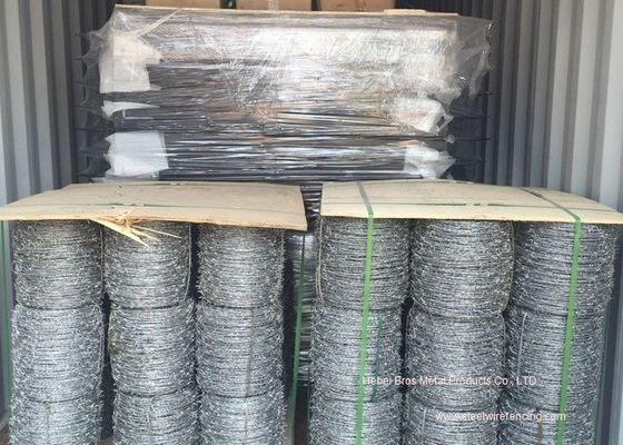 China Hot Dipped Galvanized Barbed Wire Mesh Roll / Barbed Wire Mesh Fence Design supplier
