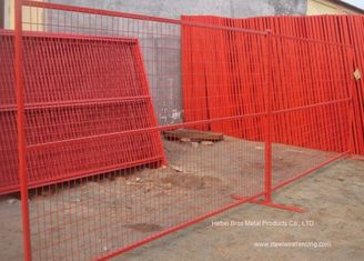 China PVC Coated Temporary Construction Fence Canada Standard 10x6 FT Event Movable Fence supplier