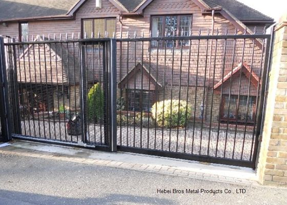 China Home Garden Automatic Driveway Gates Pedestrian Swing Gate with Steel Fence Design supplier
