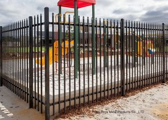 China Safely Metal Modern Zinc Steel Fence Tubular Picket Fence For Downtown supplier