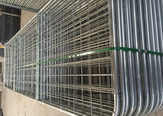 China Australia Style Galvanized Metal 12 Foot Farm Gate With Welded Frame Pipe supplier