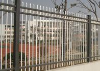Good Quality Steel Wire Fencing & Powder Coated Zinc Steel Fence Three Beam For Industrial Park , 50*50mm Rail on sale