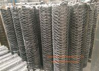 "China 1 / 4"" Galvanized Hexagonal Gabion Wall Mesh 0.5 - 2.5m Width For Poultry Netting factory"