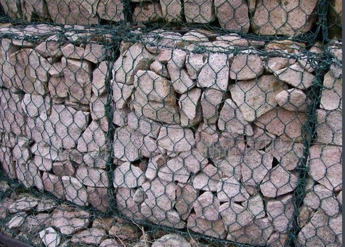 PVC Coated Gabion Wire Mesh Panels Hexagonal Hole For Highwall ...