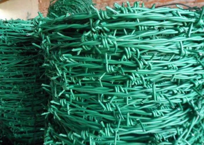 RAL Colors Barbed Wire Mesh Fencing For Boundary / Railway , Anti ...