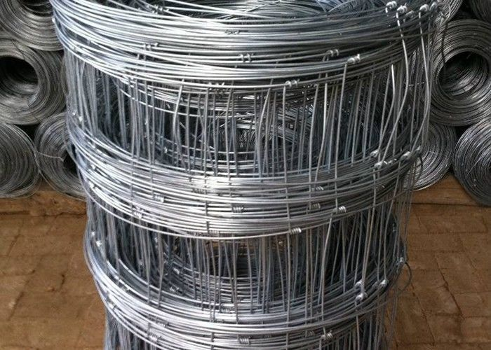 Galvanized Cattle Wire Fence / Knotted Wire Field Fence For Horse