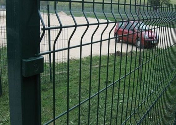 Curved Metal Garden Mesh Fencing Powder Sprayed Bending Dark Green Wire Fence