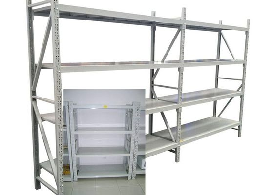 Adjustable Steel Freestanding Shelving Unit For Storage , Powder Coated Surface Treatment