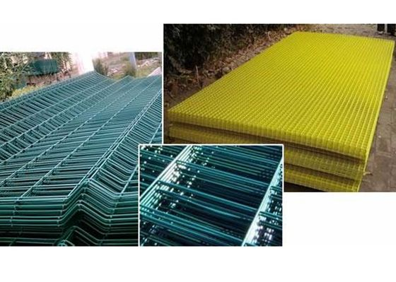 China Powder Coated Welded Wire Mesh Fence Panel Square Hole High Stability factory