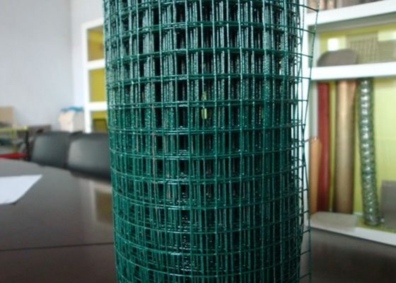 China PVC Coated Steel Mesh Fencing Panels Dark Green For Animal Cage 50X150 Size factory