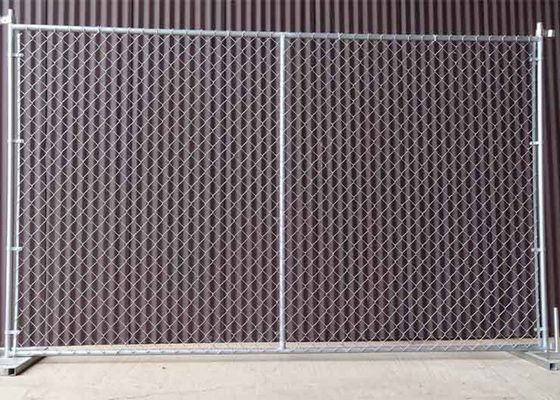 China Square / Round Temporary Chain Link Fence For Construction Sites 6' H X 10' L factory