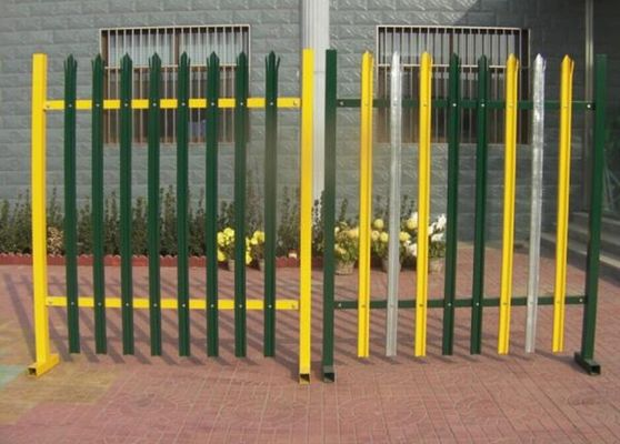 European D W Head Metal Palisade Fencing For Power Plants / Substations
