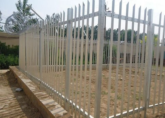Security Top Barbed Metal Palisade Fencing Anti Climbing For Gardens / Schools
