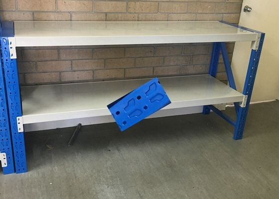 Low Carbon Rolled Steel Heavy Duty Storage Shelves For Garage 500-2000KG Capacity