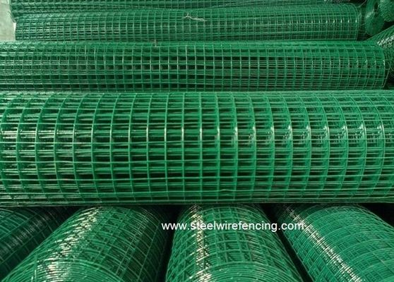 2 X 2 PVC Coated Welded Wire Mesh Roll Square Mesh Hole For Chicken Cage