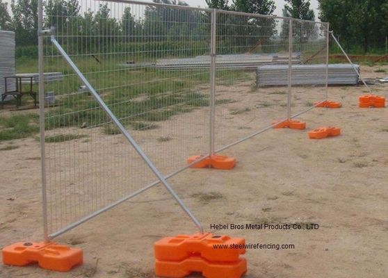 Hot Dipped Galvanized Steel Fence Panels , Metal Movable Fence Temporary Fence