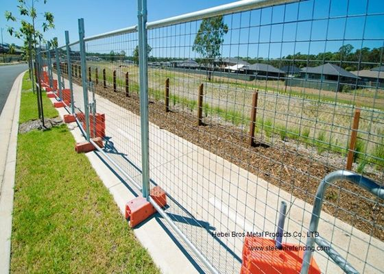 Australia Standard Temporary Construction Fence Galvanized Welded Wire Mesh For Festivals